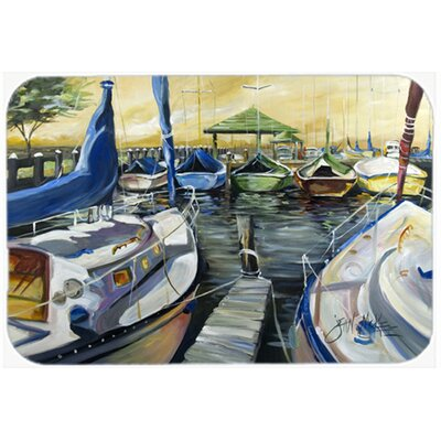 Seven Boats Sailboats Kitchen/Bath Mat Size: 24 H x 36 W x 0.25 D