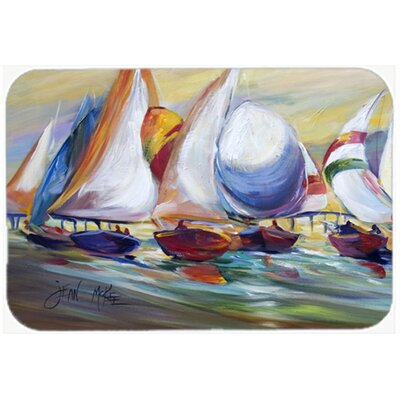 Sailboat Race In Dauphin Island Kitchen/Bath Mat Size: 20 H x 30 W x 0.25 D
