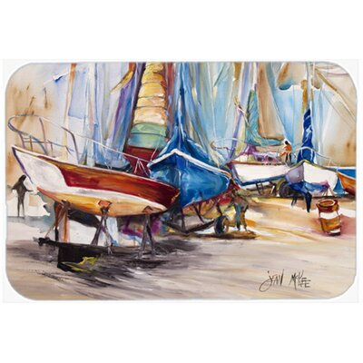 On The Hill Sailboats Kitchen/Bath Mat Size: 24 H x 36 W x 0.25 D