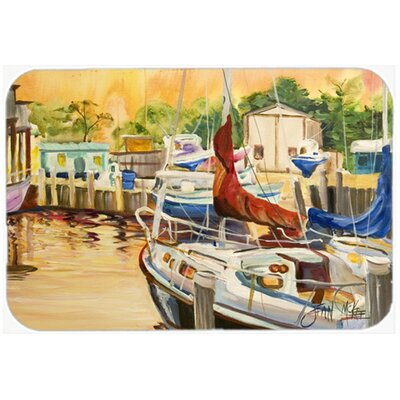Sunset Bay Sailboat Kitchen/Bath Mat Size: 24 H x 36 W x 0.25 D