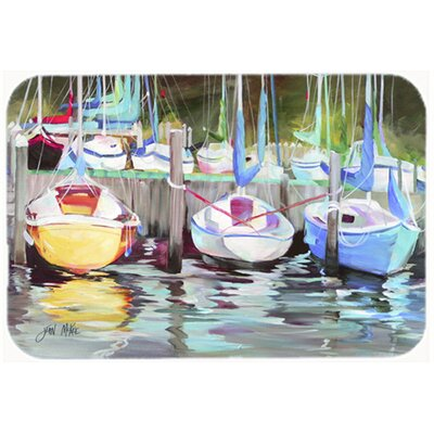 Boat Sailboat Kitchen/Bath Mat Size: 24 H x 36 W x 0.25 D