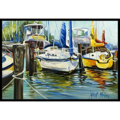Boat Sailboat Doormat Mat Size: Rectangle 16 x 2 3