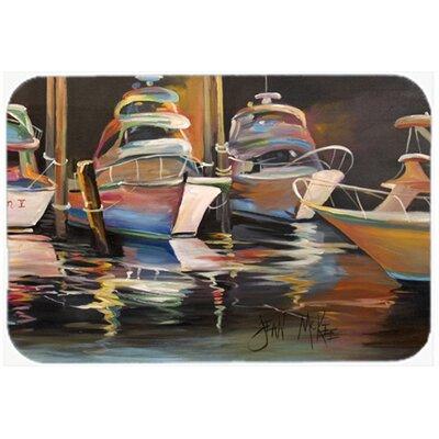 Sea Chase Deep Sea Fishing Boats Kitchen/Bath Mat Size: 24 H x 36 W x 0.25 D