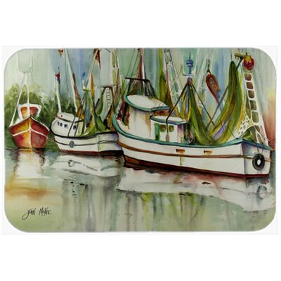 Ocean Springs Shrimper Kitchen/Bath Mat Size: 24 H x 36 W x 0.25 D