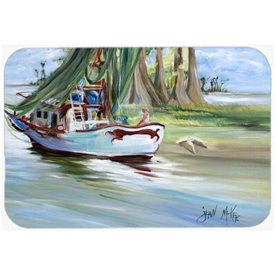 Jeannie Shrimp Boat Kitchen/Bath Mat Size: 24 H x 36 W x 0.25 D