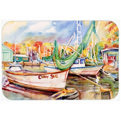 Sailboat Cindy Sue Kitchen/Bath Mat Size: 24 H x 36 W x 0.25 D