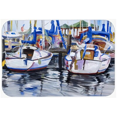 Sailboats Kitchen/Bath Mat Size: 20 H x 30 W x 0.25 D