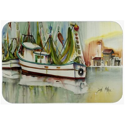 Ocean Springs Shrimper Kitchen/Bath Mat Size: 20 H x 30 W x 0.25 D