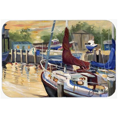 New Sunset Bay Sailboat Kitchen/Bath Mat Size: 24 H x 36 W x 0.25 D
