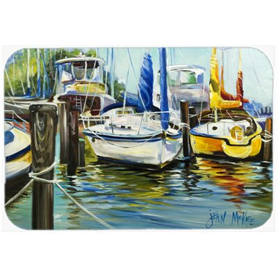 Boat II Sailboat Kitchen/Bath Mat Size: 24 H x 36 W x 0.25 D