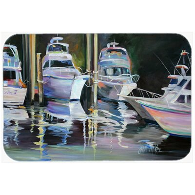 Deep Sea Fishing Boats Kitchen/Bath Mat Size: 24 H x 36 W x 0.25 D