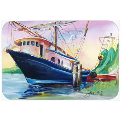 Shrimper Southern Star Kitchen/Bath Mat Size: 20 H x 30 W x 0.25 D