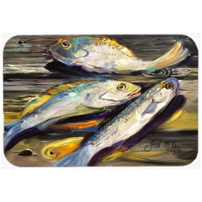 Fish on The Dock Kitchen/Bath Mat Size: 20 H x 30 W x 0.25 D
