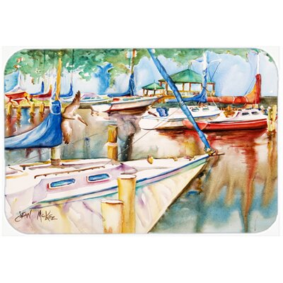 Sailboats At The Gazebo Kitchen/Bath Mat Size: 20 H x 30 W x 0.25 D