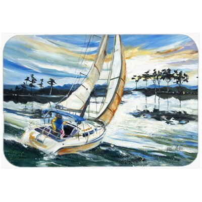 Sailboats on Lake Martin Kitchen/Bath Mat Size: 20 H x 30 W x 0.25 D
