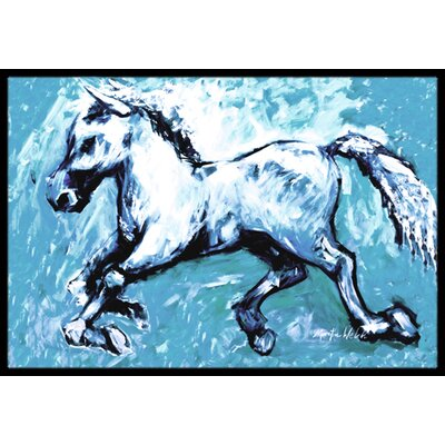 Shadow the Horse in Doormat Mat Size: Rectangle 2 x 3
