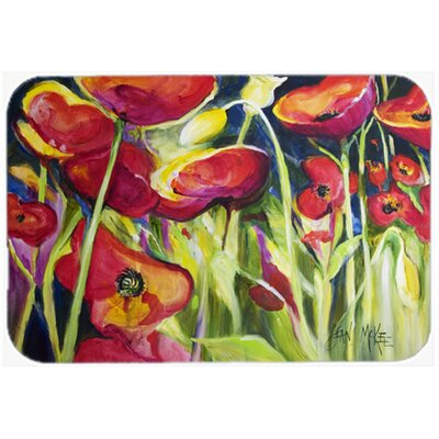 Poppies Kitchen/Bath Mat Size: 20 H x 30 W x 0.25 D