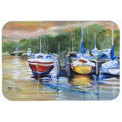Up The Creek Sailboat Kitchen/Bath Mat Size: 24 H x 36 W x 0.25 D