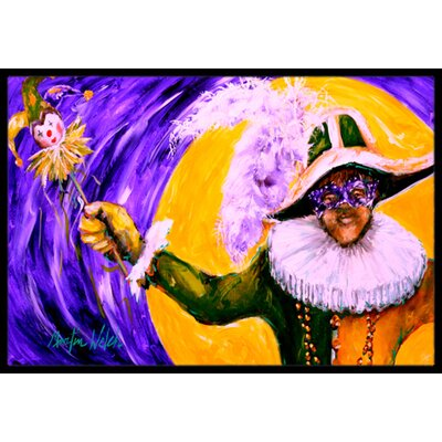 Mardi Gras Hey Mister Doormat Mat Size: Rectangle 2 x 3