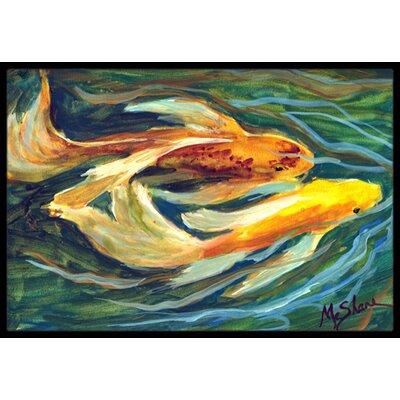 Koi Fish Doormat Mat Size: Rectangle 16 x 2 3