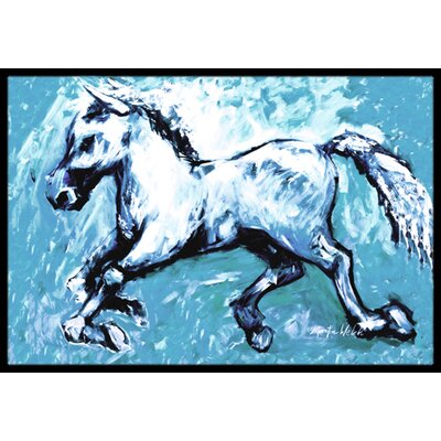 Shadow the Horse in Doormat Mat Size: Rectangle 1'6