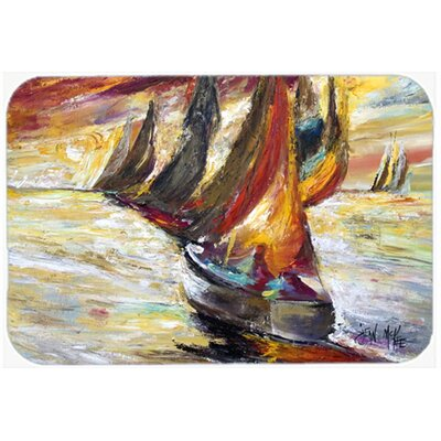 Sails Sailboat Kitchen/Bath Mat Size: 24 H x 36 W x 0.25 D