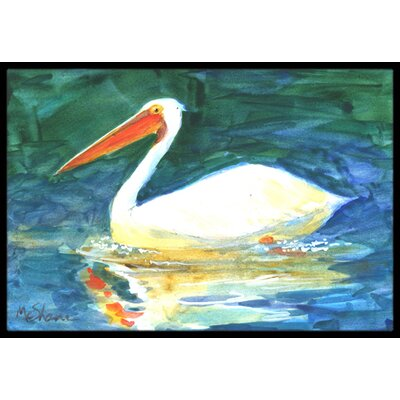Pelican Bird Doormat Mat Size: Rectangle 2 x 3