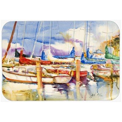 End Stall Sailboats Kitchen/Bath Mat Size: 24 H x 36 W x 0.25 D