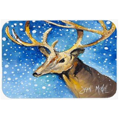 Reindeer Kitchen/Bath Mat Size: 24 H x 36 W x 0.25 D