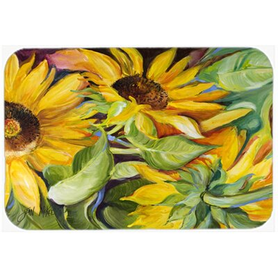 Sunflowers Kitchen/Bath Mat Size: 20 H x 30 W x 0.25 D