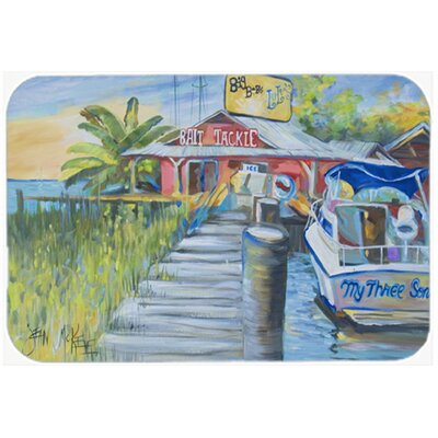 Deep Sea Fishing Boat At Lulus Kitchen/Bath Mat Size: 20 H x 30 W x 0.25 D