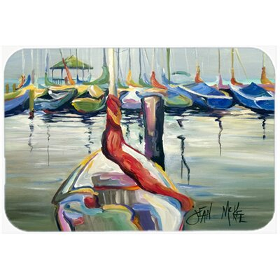 Lasalle Sailboats Kitchen/Bath Mat Size: 24 H x 36 W x 0.25 D