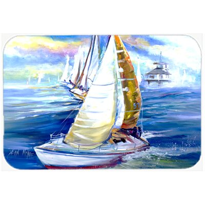 Rock My Boat Sailboats Kitchen/Bath Mat Size: 20 H x 30 W x 0.25 D