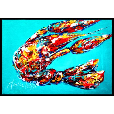 Lucy the Crawfish in Doormat Rug Size: 16 x 2 3