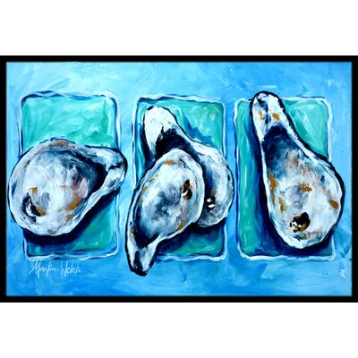 Oyster + Oyster = Oysters Doormat Mat Size: Rectangle 16 x 2 3