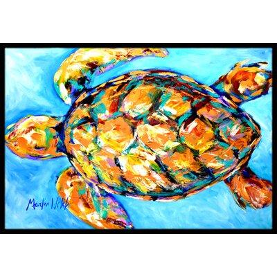 Sand Dance Turtle Doormat Mat Size: Rectangle 2 x 3