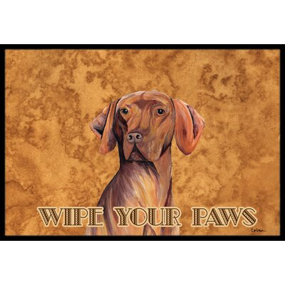 Vizsla Doormat Mat Size: Rectangle 2 x 3
