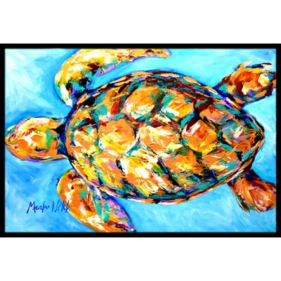 Sand Dance Turtle Doormat Mat Size: Rectangle 16 x 2 3