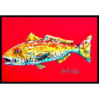 Fish Alfonzo Doormat Mat Size: Rectangle 16 x 2 3