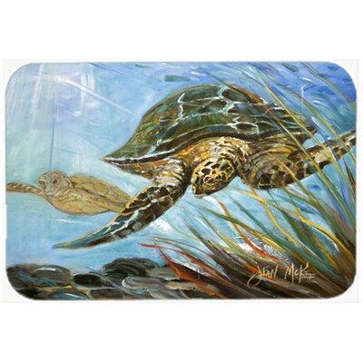 Loggerhead Sea Turtle Kitchen/Bath Mat Size: 20