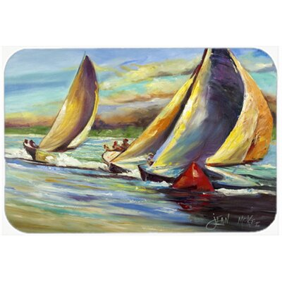 Knost Regatta Pass Christian Sailboats Kitchen/Bath Mat Size: 24 H x 36 W x 0.25 D