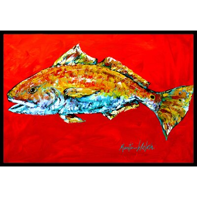 Fish Head Doormat Rug Size: 16 x 2 3