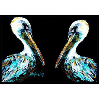 Dressed Pelican Doormat Mat Size: Rectangle 16 x 2 3