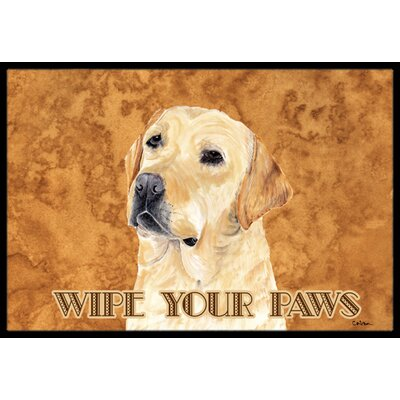 Labrador Doormat Rug Size: Rectangle 16 x 2 3