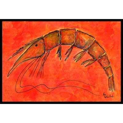 Shrimp Doormat Mat Size: Rectangle 16 x 2 3