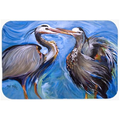 Heron Love Kitchen/Bath Mat Size: 24 H x 36 W x 0.25 D