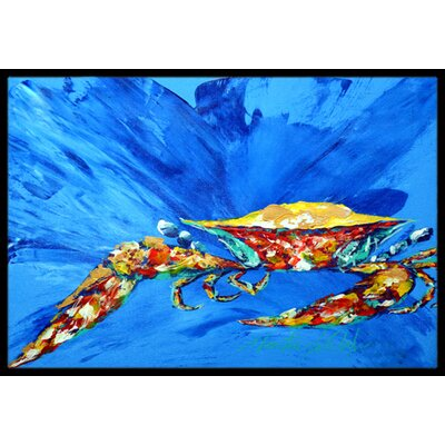 Big Spash Crab Doormat Mat Size: Rectangle 16 x 2 3