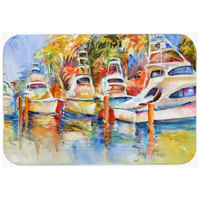 Deep Sea Fishing Boats At The Dock Kitchen/Bath Mat Size: 20