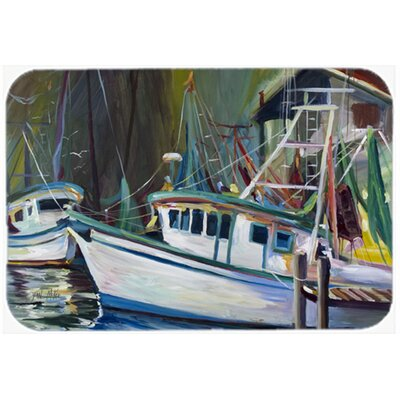 Joe Patti Shrimp Boat Kitchen/Bath Mat Size: 24 H x 36 W x 0.25 D