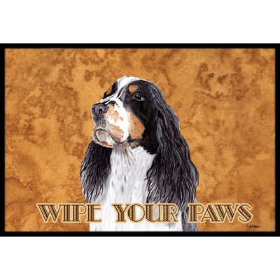 Springer Spaniel Doormat Rug Size: Rectangle 2 x 3